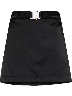 1017 ALYX 9SM belted satin miniskirt