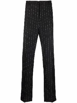 1017 ALYX 9SM logo-pinstriped tailored trousers