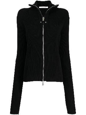 1017 ALYX 9SM zipped rib-knit cardigan