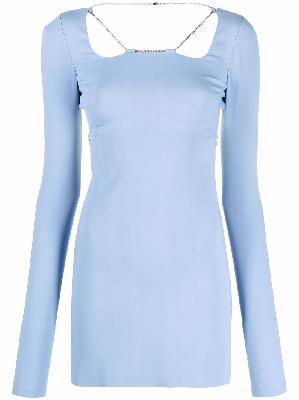1017 ALYX 9SM long-sleeve chain mini dress