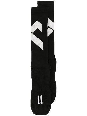 11 By Boris Bidjan Saberi distressed detail contrast panel socks