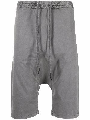 11 By Boris Bidjan Saberi drop-crotch cotton shorts