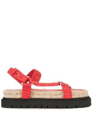 3.1 Phillip Lim ruched flatform sandals