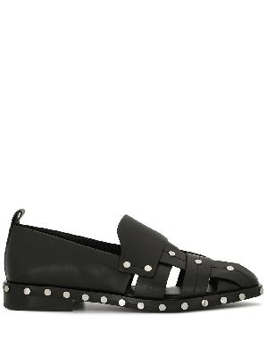 3.1 Phillip Lim Alexa woven studded loafers