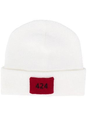 424 logo patch beanie