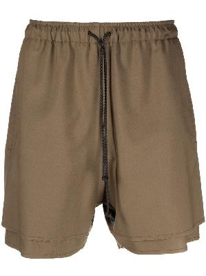 424 layered track shorts
