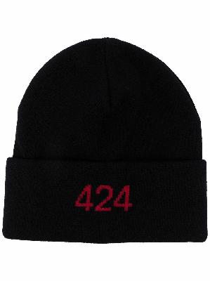 424 embroidered logo beanie