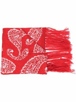 424 paisley pattern scarf