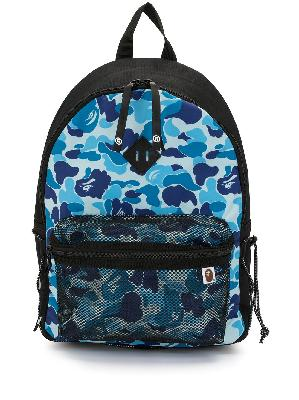 A BATHING APE® camouflage-print mesh-compartment backpack