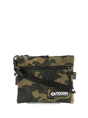 A BATHING APE® x Outdoor Products camo mini shoulder bag