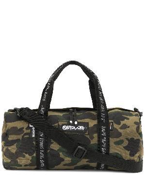 A BATHING APE® x Outdoor Products camo duffle bag