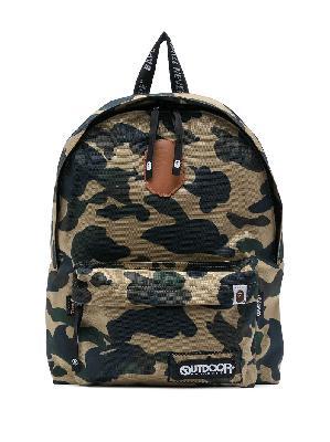 A BATHING APE® camouflage logo-print backpack