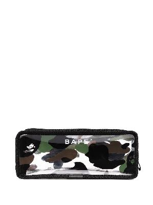 A BATHING APE® 1st Came Flight camouflage pouch