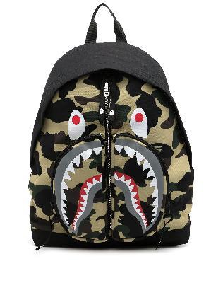 A BATHING APE® Shark camouflage-print backpack