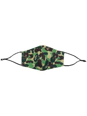 A BATHING APE® camouflage-print face mask