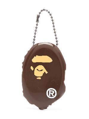 A BATHING APE® Ape Head key holder pouch