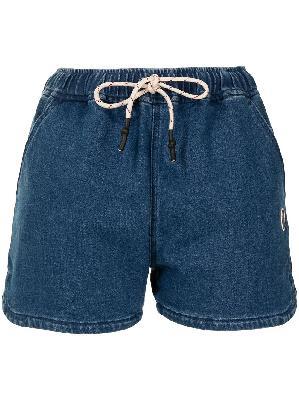 A BATHING APE® logo-patch denim shorts