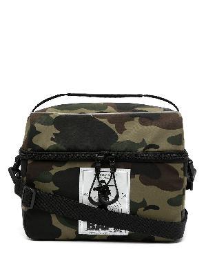 A BATHING APE® camouflage-print logo patch bag