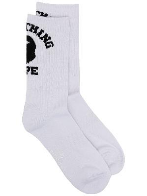 A BATHING APE® logo-print socks