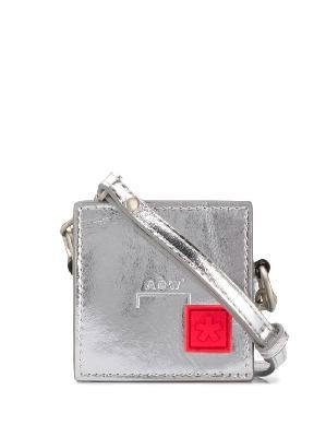 A-COLD-WALL* metallic box coin pouch