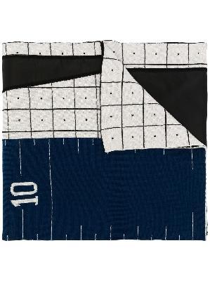 A-COLD-WALL* geometric print merino wool scarf