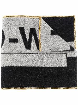 A-COLD-WALL* contrasting logo-print scarf