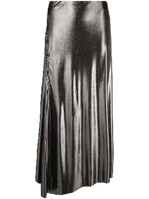 Acne Studios metallic-effect asymmetric skirt