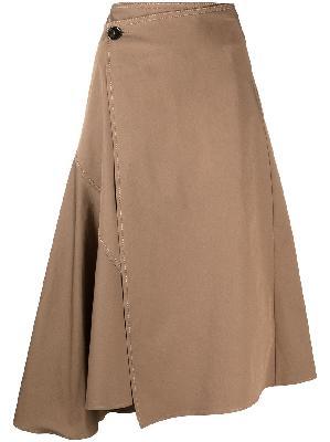Acne Studios asymmetric midi skirt