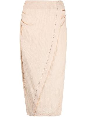 Acne Studios ruched pencil skirt