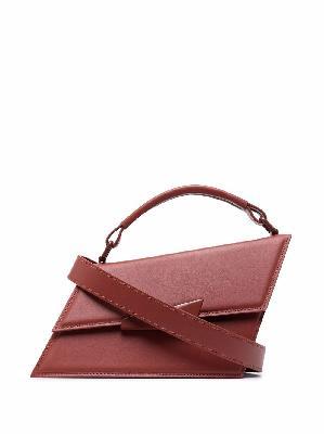Acne Studios asymmetric leather tote bag