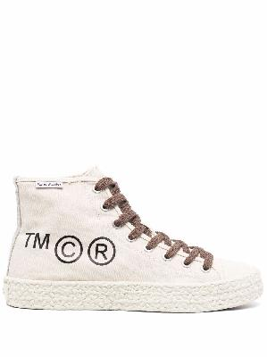 Acne Studios logo print lace-up sneakers