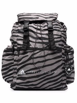 adidas by Stella McCartney logo-print zebra-print backpack
