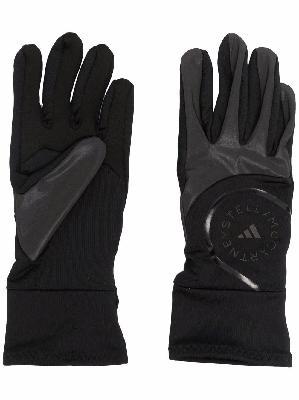 adidas by Stella McCartney logo-print contrast gloves