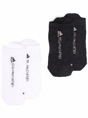adidas by Stella McCartney logo-knit 2-pack socks