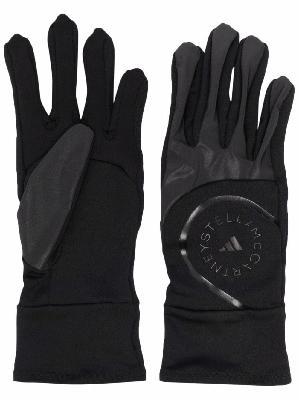 adidas by Stella McCartney logo embroidered gloves