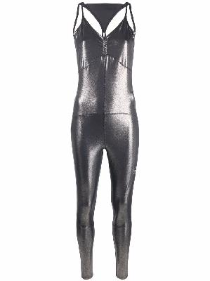 adidas by Stella McCartney sleeveless shiny jumpsuit