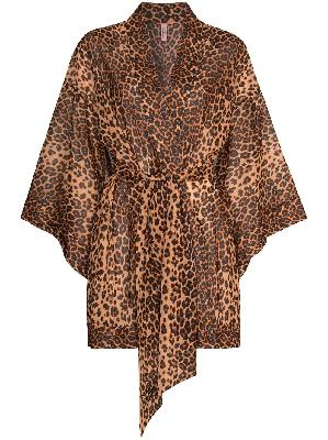 Agent Provocateur Kittie leopard print short robe
