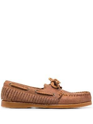 Alanui fringed beaded boat shoes