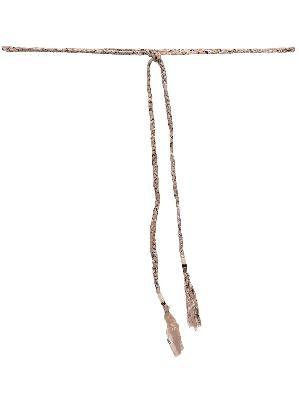 Alanui bandana-print tied belt