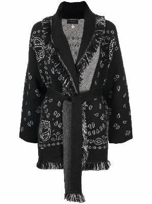 Alanui bandana-print tied-waist cardigan
