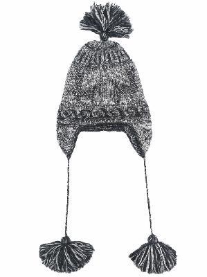 Alanui intarsia-knit tassel-detail hat