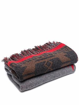 Alanui Icon jacquard fringed blanket