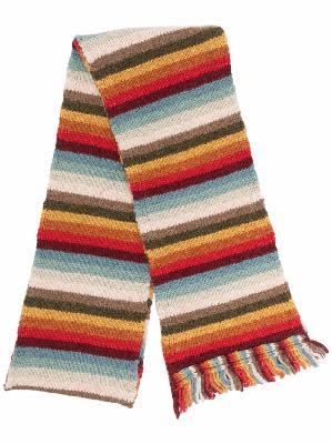 Alanui striped fringed scarf