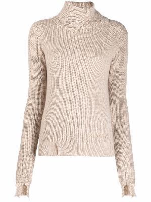 Alanui ribbed-knit roll-neck jumper