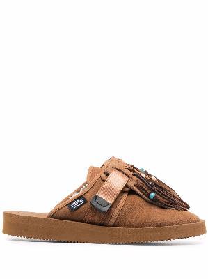Alanui Zavo fringed Suikoke slippers