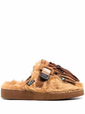 Alanui x Suicoke Zavo faux-fur slippers