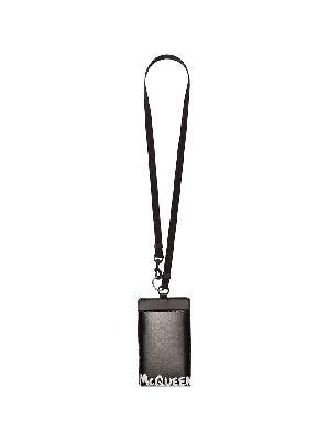 Alexander McQueen logo-print leather smartphone case