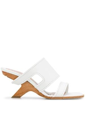 Alexander McQueen strappy leather mules