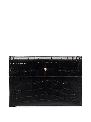 Alexander McQueen croc effect envelope clutch bag