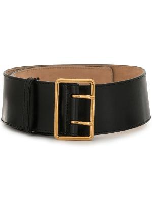 Alexander McQueen double-buckle wide belt